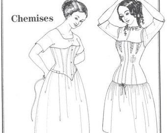 PP002 - Past Patterns #002, Early 19th Century Chemises Sewing Pattern