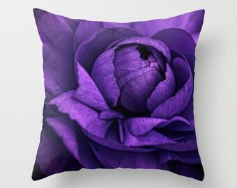 Purple Flower  16 x16 Pillow Cover ***SALE***