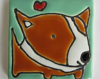 2.5 Square Cardigan Corgi with a Heart
