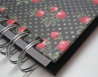 Meal Planner - Meal Planning - Weekly Meal Planner - Menu Planner - Dinner Menu - Meals Organizer - Menu Planning - Vintage Strawberry Cover
