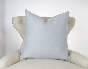 Throw Pillow, Decorative Cushion, Euro Sham, Accent Pillow, Plain Pillow, Solid Color -MANY SIZES- Dyed Storm Gray, Premier Prints