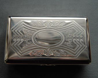 Sterling Silver Box, Tobacco Tin, Stash Box, Jewel Box, Handy Pocket Container, Brand-new Made in Germany by Hansaware 107/SS