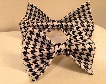 Houndstooth Alabama Dog Bow Tie in Small, Medium or Large
