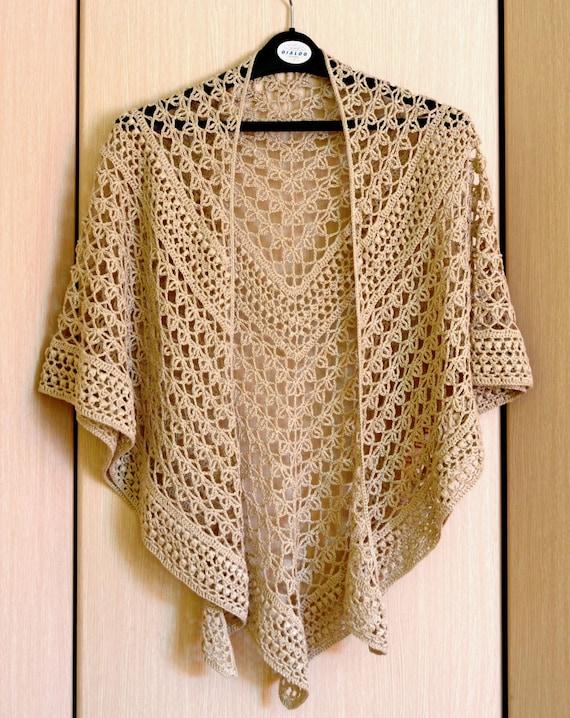 Crochet Shawl Pattern - Rings Of Lace Shawl Written Pattern ...