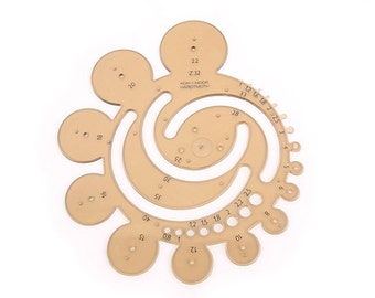 Round style template. 1 in 1Ruler, Circle Ruler tool,use drawing tools,Leather craft tools MLT-P0000BSE