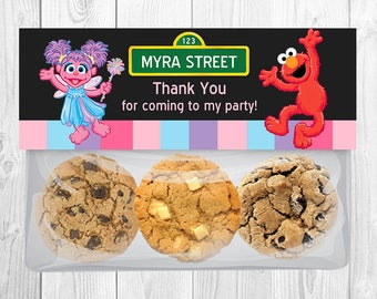 Abby Cadabby and Elmo Treat Bag Toppers, Abby Cadabby Elmo Favor Bag Toppers, Sesame Street Party Decoration, Printable - PDF