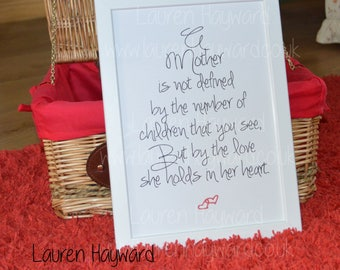 Baby Loss Mother's Day A4 Printable for those who have lost a child. Baby loss, miscarriage.