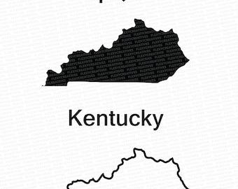 Kentucky Vector, State Clipart, Kentucky Clip Art, Kentucky Map Clip art SVG, State png, DXF, pdf, EPS FlexyCreatives  #mp-27