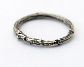 Twig ring - sterling silver willow branch ring