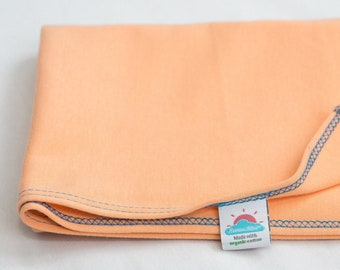 peach | organic cotton t-shirt hair towel