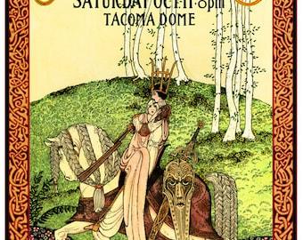 Fleetwood Mac art nouveau concert poster