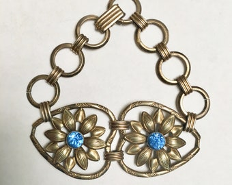 vintage PR St Co gold fill sterling bracelet