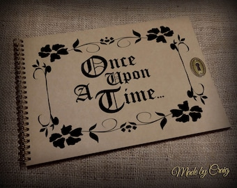 Once Upon A Time Storybook, Handmade, Blank Storybook, Make your own Story Inside, Disney Up, Our Adventure Book, Henry's, Blank Inside
