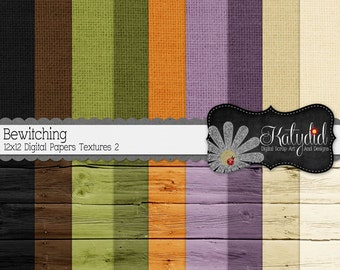 Halloween Digital Paper Bewitching Digital 12x12 Textures 2 Holiday Seasonal Papers and Backgrounds for INSTANT DOWNLOAD
