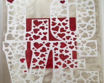 LOVE cut your own paper cut template - PERSONAL USE