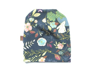 Girl Beanie, Slouchy Hat, Girl Hat, Girl Clothing, Baby Beanie, Toddler Beanie Hat, Infant Hat, Floral Hat, Under 20 Dollars, Ready to Ship