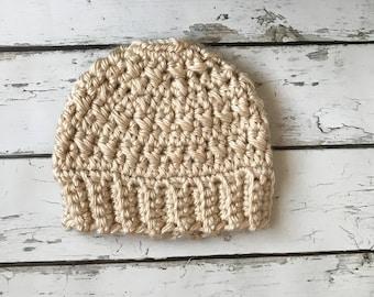 Messy Bun Hat, Messy Bun Beanie, Crochet Hat, Crochet Bun Hat, Winter Hat, Ponytail Hat, Runner's Hat, Bulky Crochet Hat