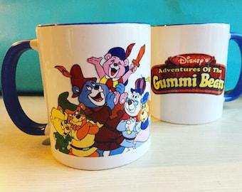 Gummi Bears Mug 1980s Vintage Design with Magnet