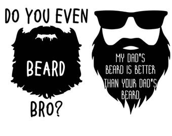 Bearded Vinyl Decal