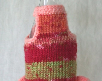 Peach Wine Bottle Cover and Hat (wine bottle bling)