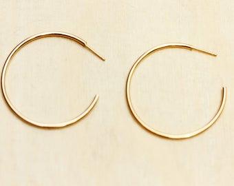 Gold Hoops, Gold Hoop Earrings, Geometric Earrings, Gold Earrings, Simple Hoops, Hoop Earrings, Hoops, Gold Hoops