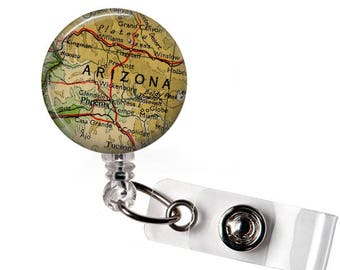 Badge Reel Arizona, Phoenix Retractable ID, Badge Holder, RN Badge Reel, Office Badge, ID Holder Doctor Badge, Badge Holder Nurse Badge Clip