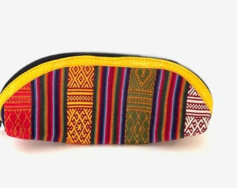 Bhutanese handmade pencil & makeup pouch