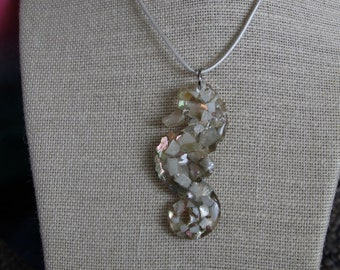 Mermaid Seahorse Necklace / Pendant Seashells Abalone Mother of Pearl MOP