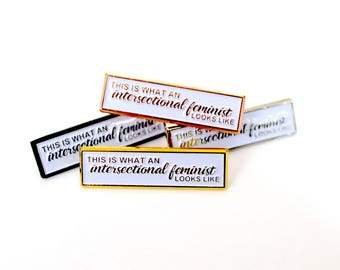 Intersectional Feminist // Soft Enamel Pin (Black, Gold, Silver, Rose Gold)