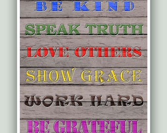 House quotes wall decor. House Rules print. Family Rules Poster. Family Decor. Rules art. Scripture Sign.