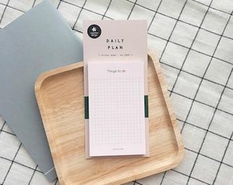 DAILY PLAN CHECKLIST | Shopping List | Memopad | Notepad | Gift | Korean Stationery | Note | To do list | Scrapbooking | Journal Accessories