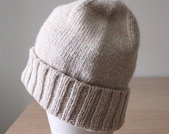 Merino wool hat beanie, Ivory silver lurex knit hat, Glitter knit beanie, Hygge, Slouchy beanie, Toque