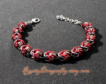 Star Lord - Guardians of the Galaxy Inspired Lully Weave Chainmaille Bracelet