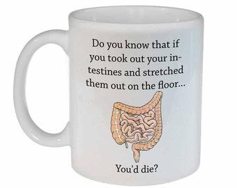 Intestinal fact - funny coffee or tea mug