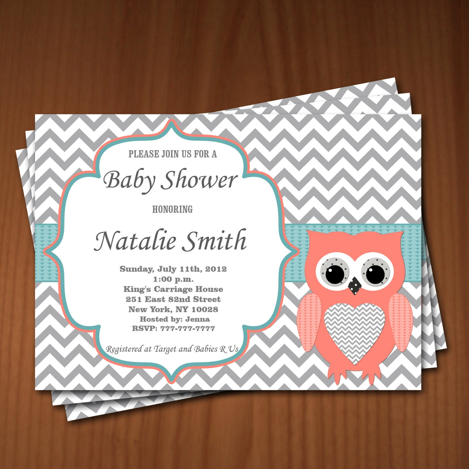 Owl baby shower invitation girl baby shower invitations zoom filmwisefo Image collections