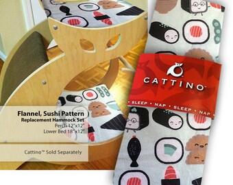 Flannel, Sushi Pattern Cat Nap Hammock