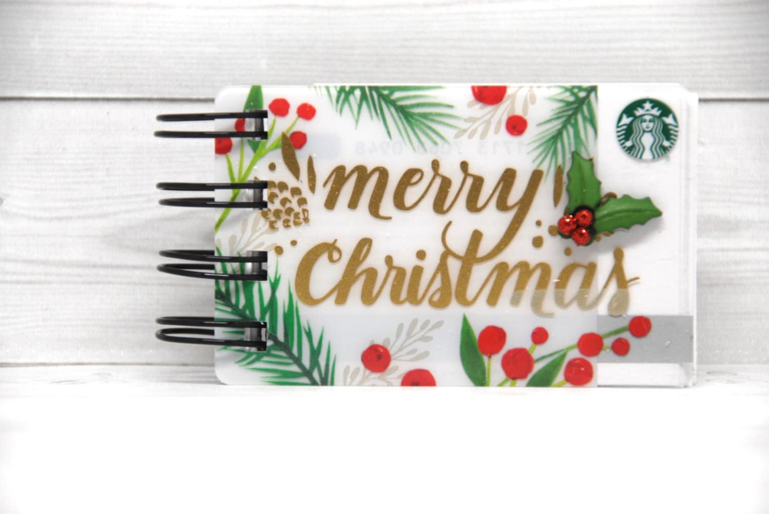 STARBUCKS HOLIDAY CHRISTMAS Notebook with gift card covers