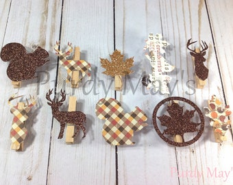Thanksgiving Favor Clips, Thanksgiving Favors, Thanksgiving Name Clips, Thanksgiving Dinner Tags, Thanksgiving Bag Clips, Thanksgiving