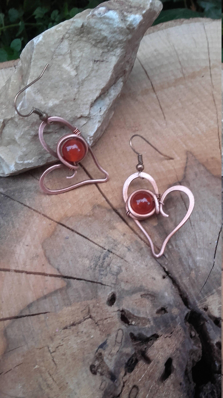 Süßes Herz Draht umwickelt Ohrringe Liebe Ohrringe