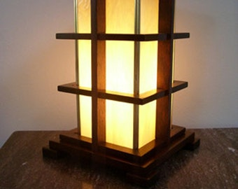 Arts and Crafts Warm Glow Accent Table Lamp Mission Style Handcrafted/Handmade