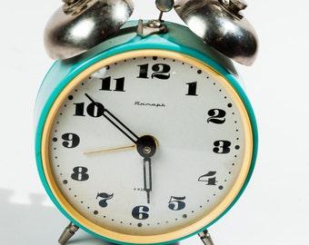 Vintage Rare Clock - Soviet Mechanical Clock - Home Decor - Vintage Decor - Soviet Decor