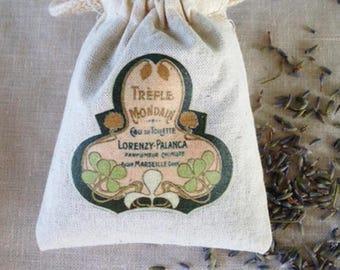 LAVENDER SACHET, PARISIAN Perfume Label Lavender Sachet, Aromatherapy Lavender Drawer Sachet, Sleep Calm Inducing Lavender