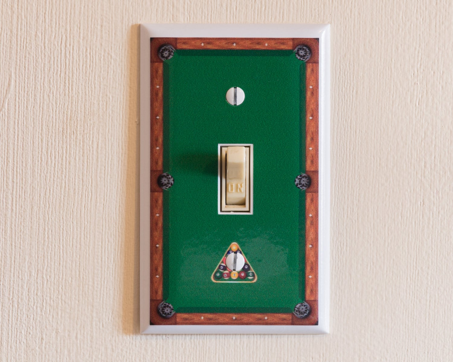 Custom Light Switch Plates Pleasing Pool Table Switch Plate Wall Plate Cover Billiards Decorating Inspiration