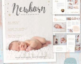 Senior photography magazine 24 page photoshop template newborn photography magazine template 22 pages pg016 instant download maxwellsz