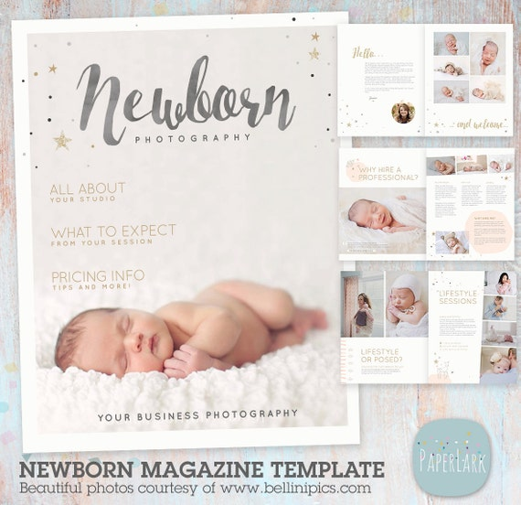 Newborn Photography Magazine Template 22 Pages PG016
