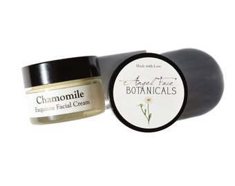 Travel Size Facial Moisturizers, Face Cream, Facial Lotion, Chamomile Cream, Jasmine Cream, Light Feather-weight, Dry Skin, Sensitive Skin