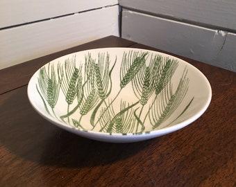 Homer Laughlin - Wheat Americana - Bowls - Green and White China Dish- 6 Available