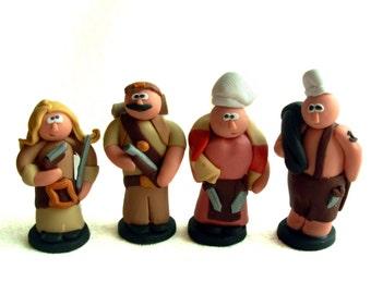 Robinson Crusoe Character Token Set