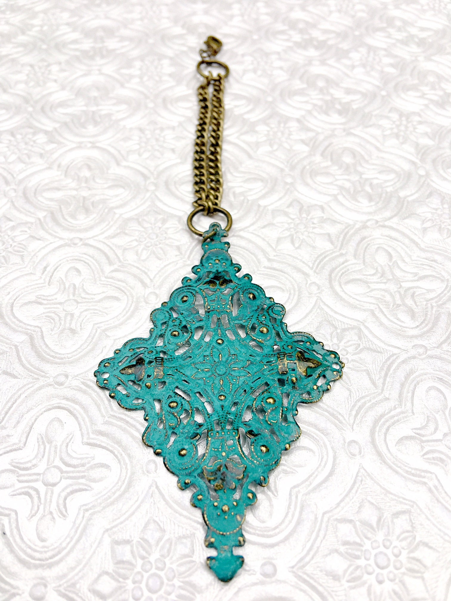 Turquoise scarf jewelry turquoise filigree pendant scarf gallery photo gallery photo gallery photo aloadofball Image collections