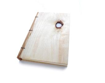Aspen Wooden Notebook Wood Journal Sketchbook Rustic Wood Wedding Guest Book Personalized Journal Refillable Journal Custom Journal